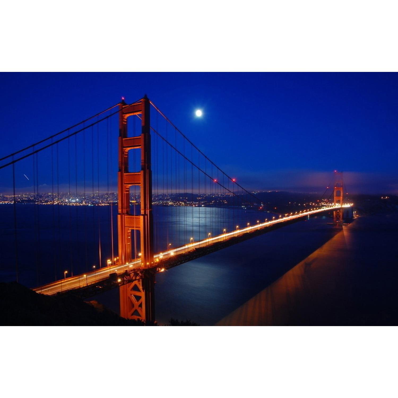 LED Light-Up Famous Golden Gate Bridge Canvas Wall Art