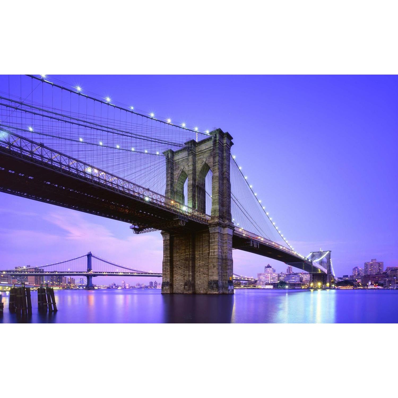 LED Light-Up Famous Brooklyn Bridge Canvas Wall Art