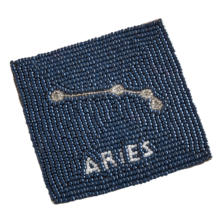 Aries Blue Beaded Coaster
