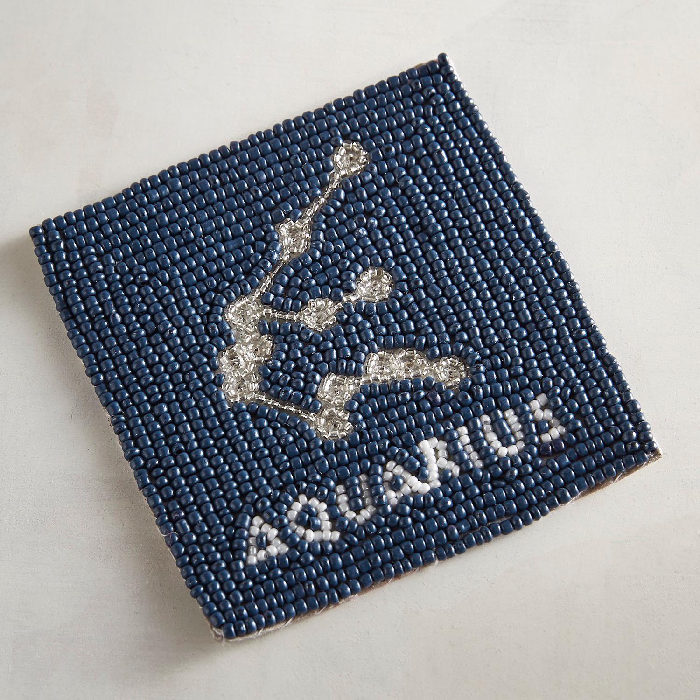 Aquarius Blue Beaded Coaster