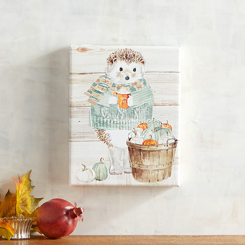 Hello Fall Hedgehog Wall Decor