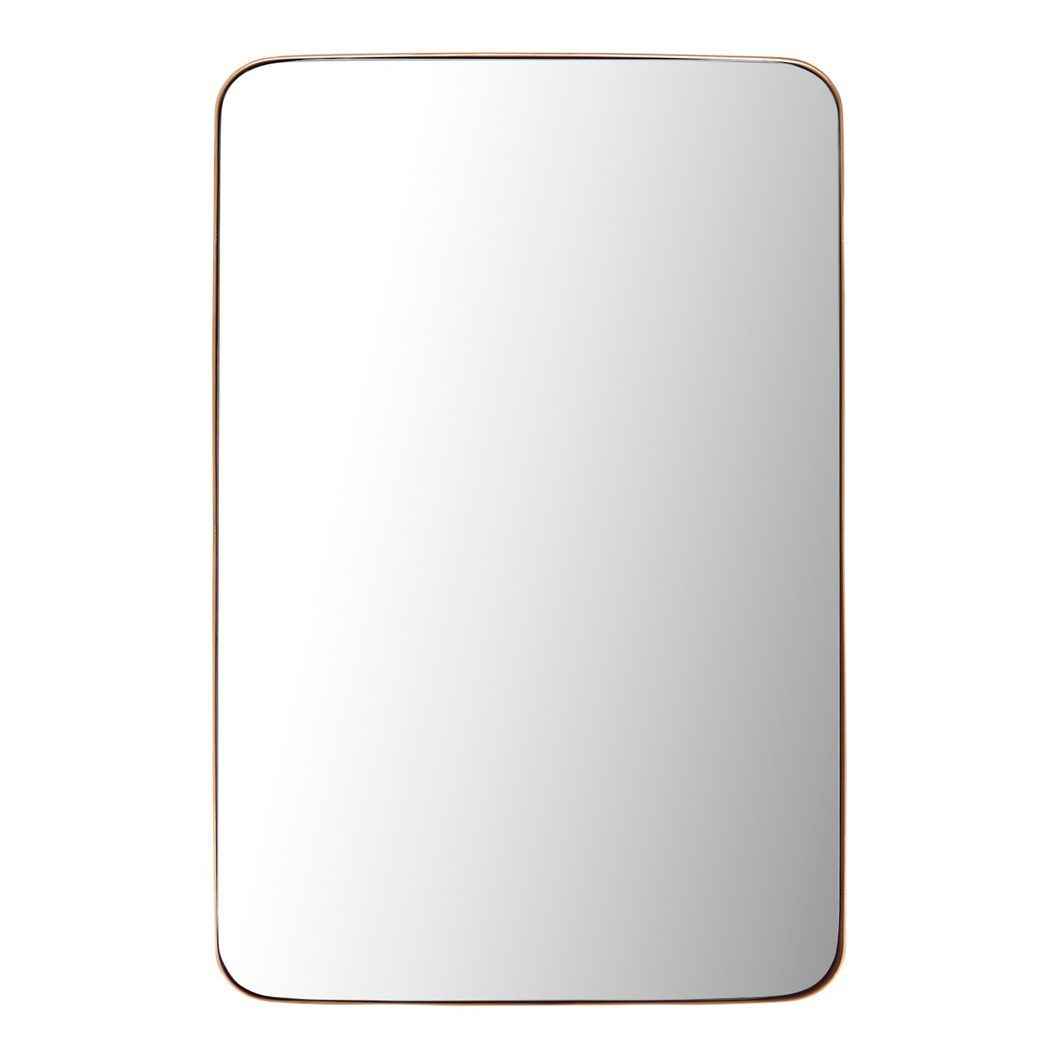 Golden Rounded Edge Mirror