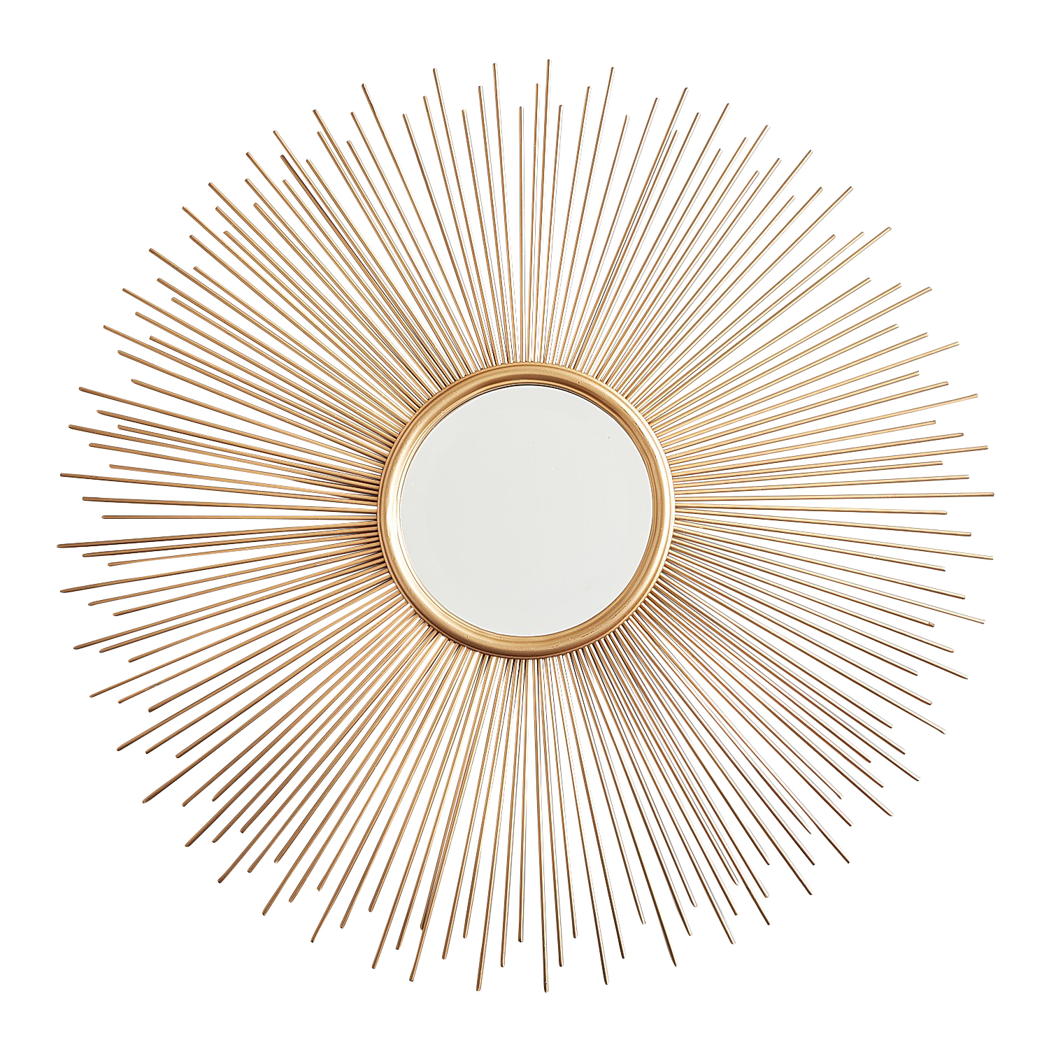 Golden Metal Sunburst Mirror