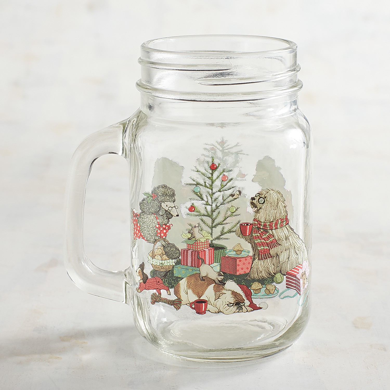 Park Avenue Puppies™ Christmas Morning Mason Jar