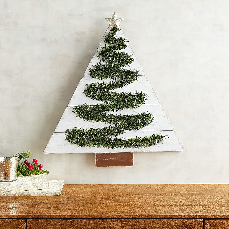 Greenery Christmas Tree Wall Decor