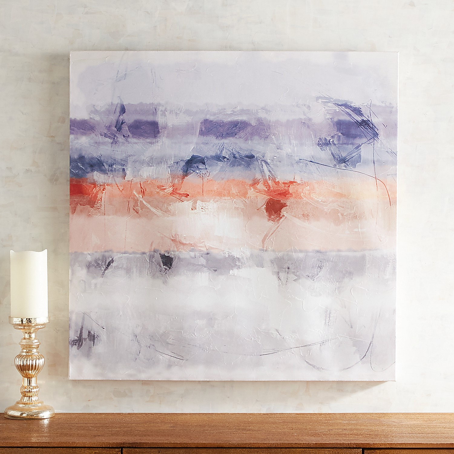 Muted Abstract Layers Wall Art