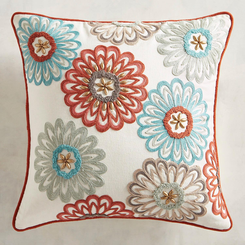 Beaded Chrysanthemums Pillow