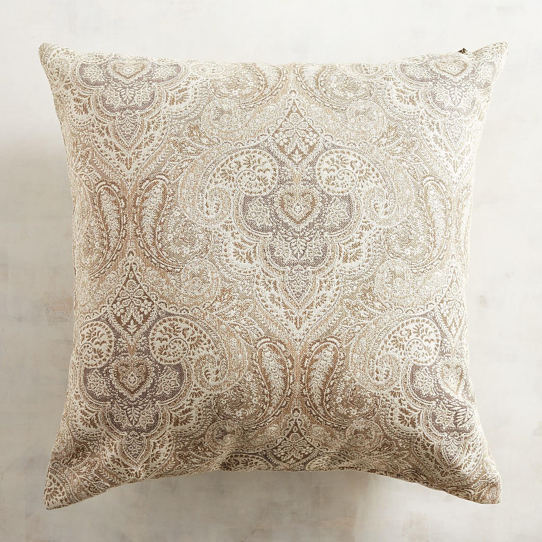 Oversized Damask Neutral Pillow