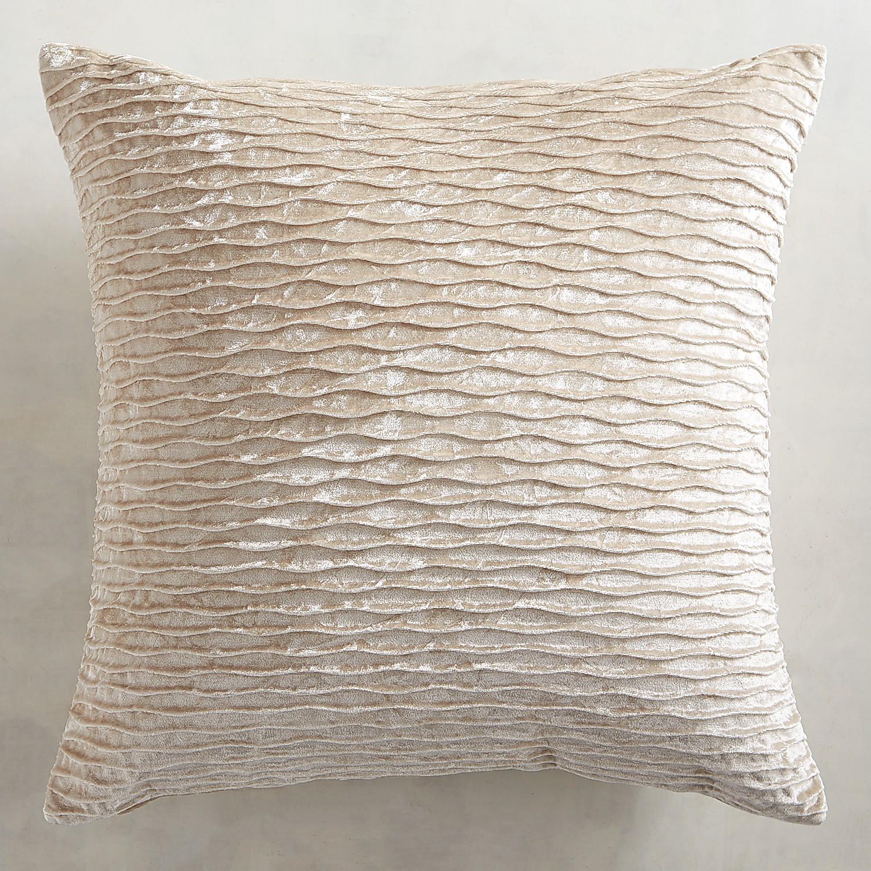 Ripple Velvet Ivory Pillow
