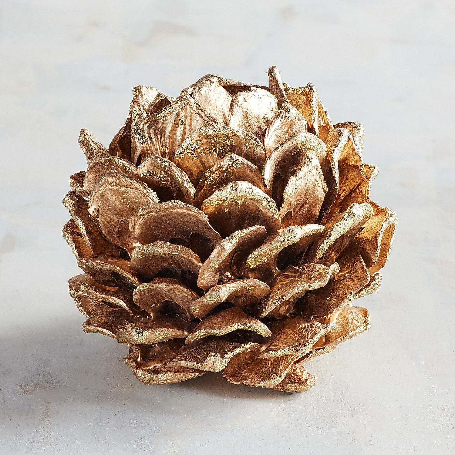 Gold Pinecone Decorative Sphere