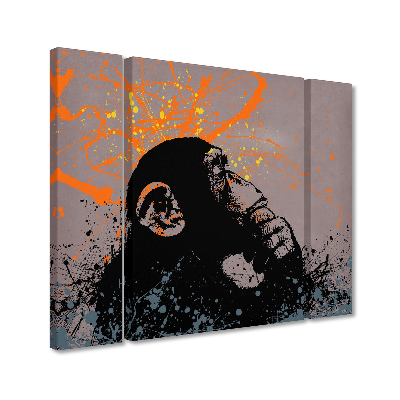 Banksy 'The Thinker' Multi Panel Large Wall Art Set