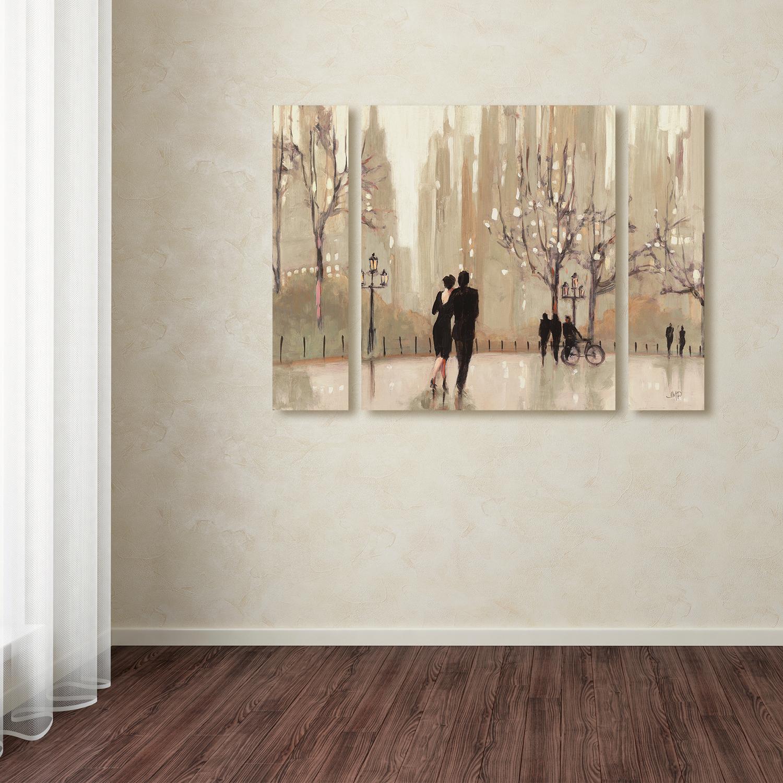 Julia Purinton 'An Evening Out Neutral' Multi Panel Wall Art Set