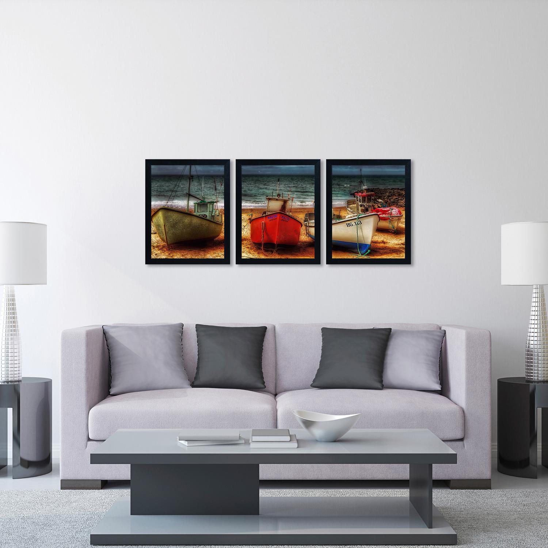 Resting Boats Wall Art Set of 3