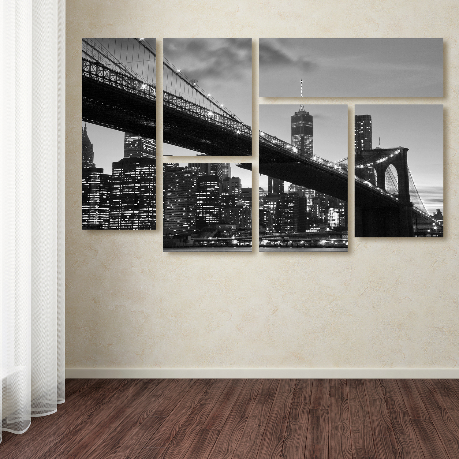 Brooklyn Bridge 5-Panel Wall Art Set