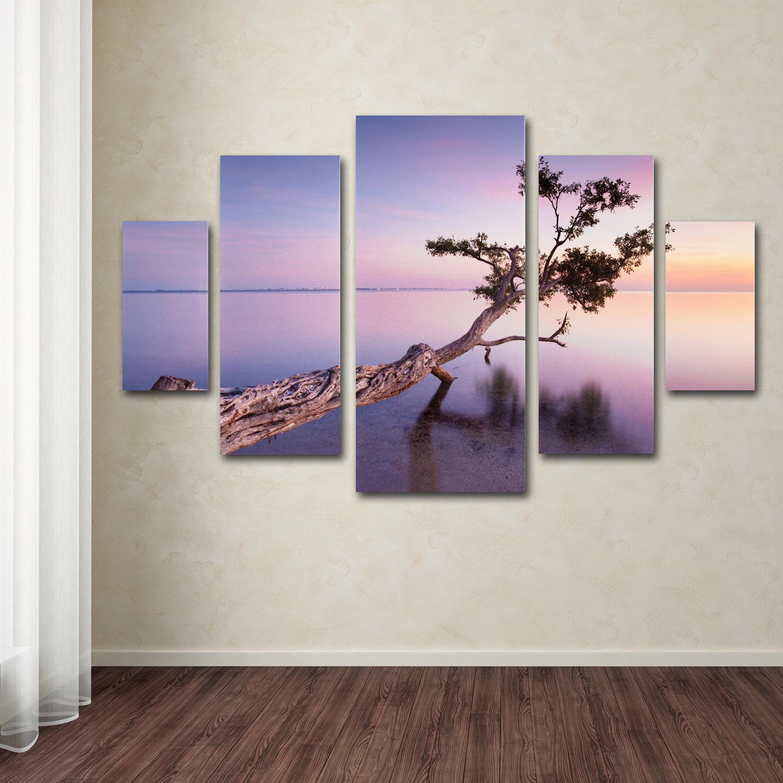 Moises Levy 'Water Tree XV' Multi Panel Wall Art Set