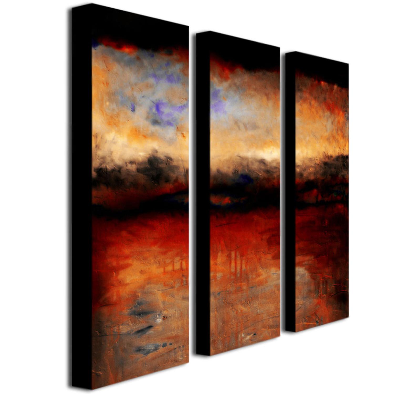 Red Skies at Night Wall Art Set of 3