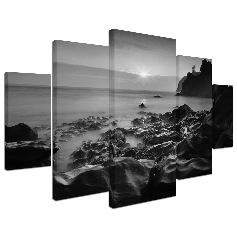 Sunset At Ruby Beach Wall Art Set of 5
