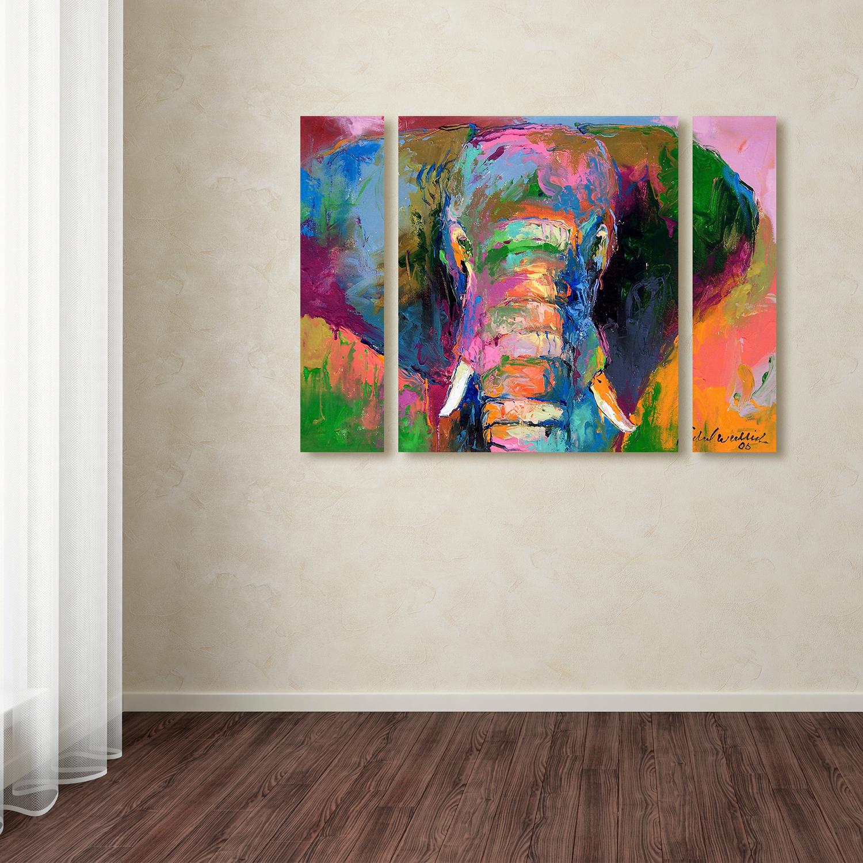 Richard Wallich 'Elephant 2' Large Multi Panel Wall Art Set