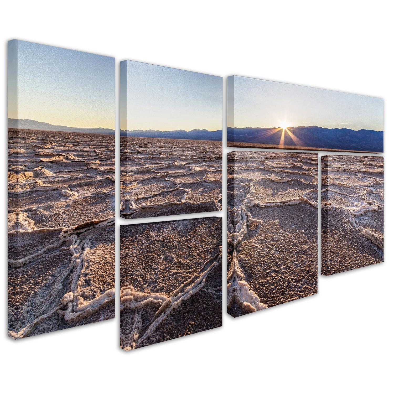 Badwater Sunset Wall Art Set of 6