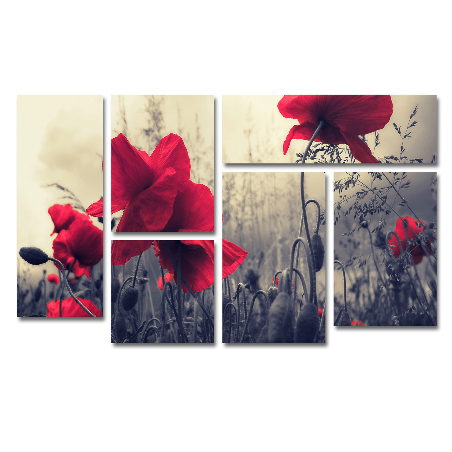Philippe Sainte-Laudy 'Red For Love' Multi Panel Wall Art Set