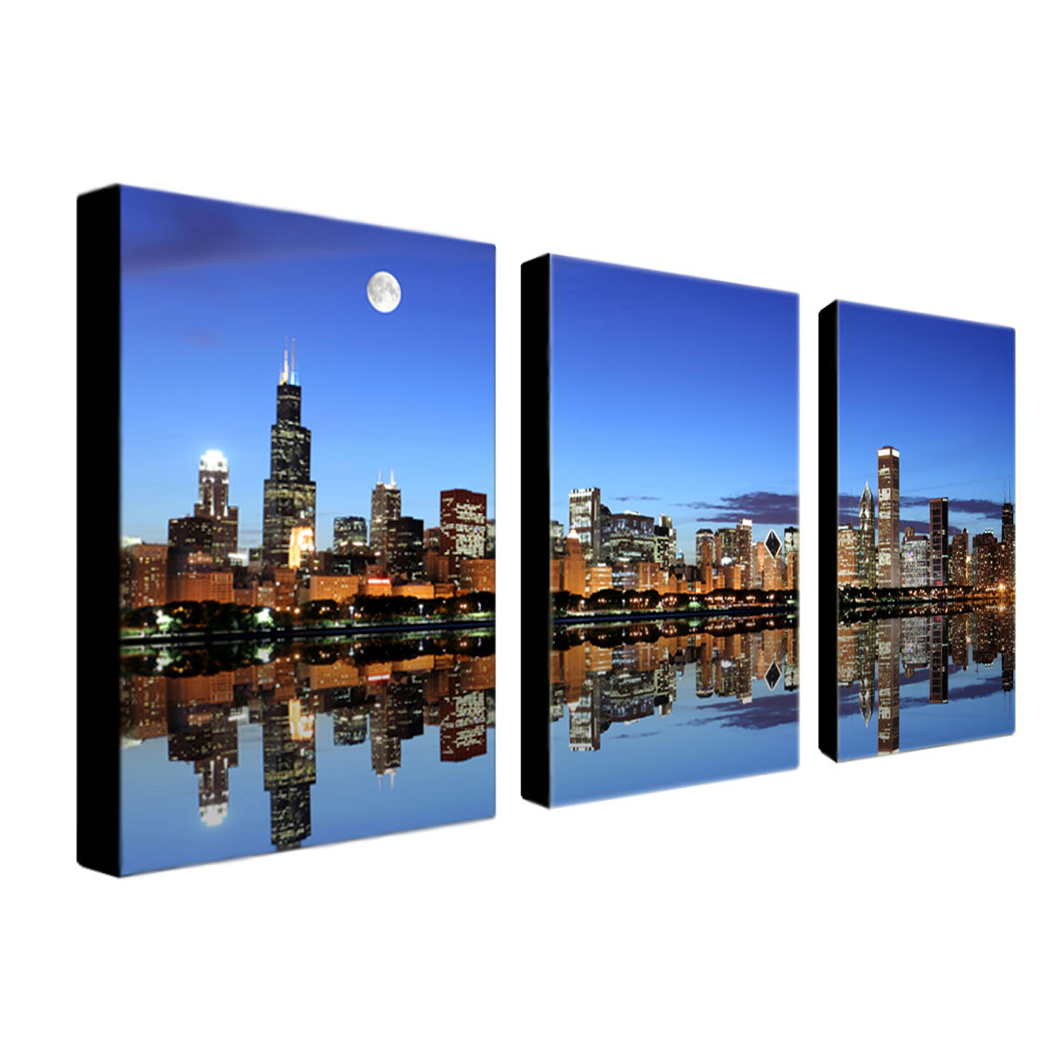 Chicago IL Wall Art Set of 3