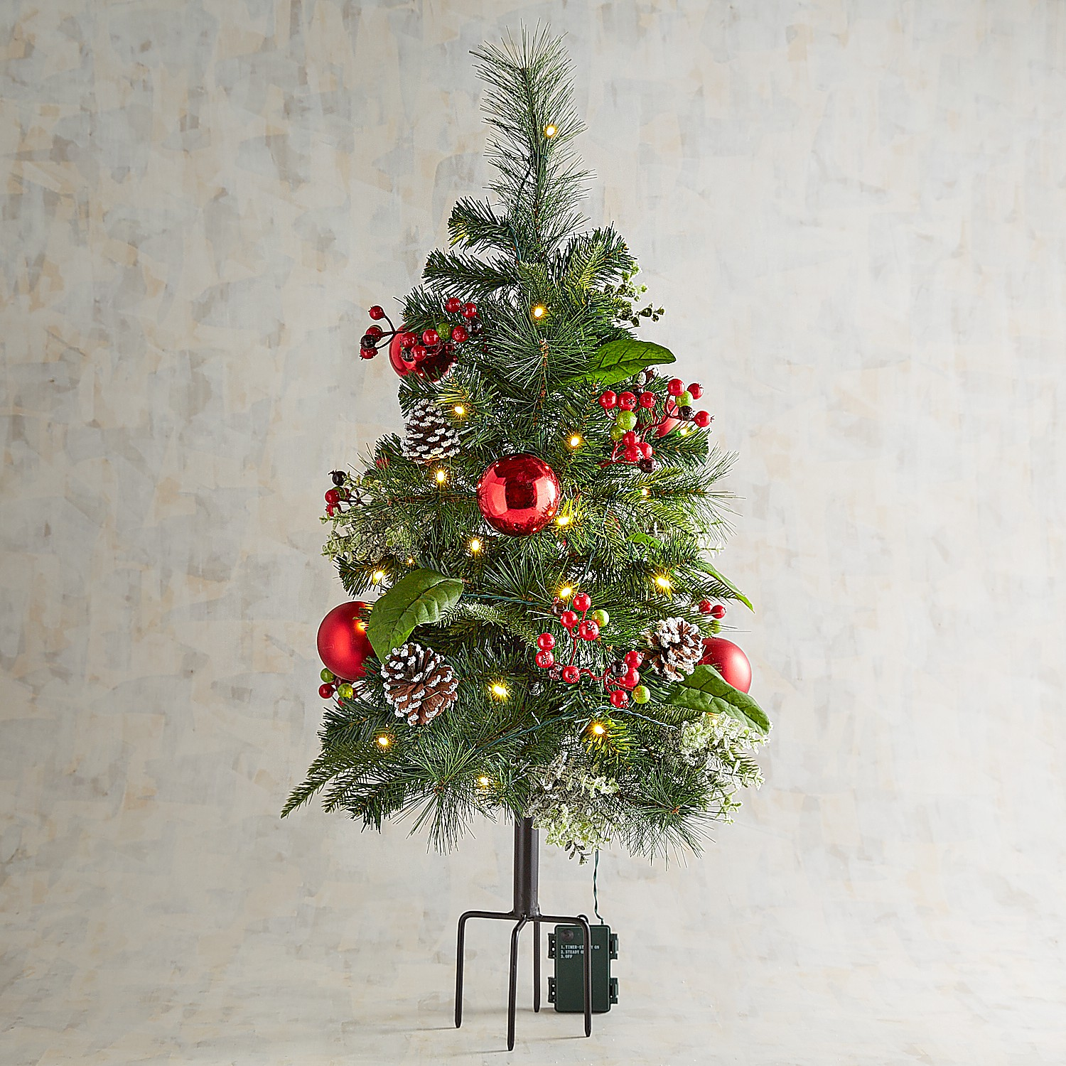 LED Pre-Lit Jolly Green Pathway Artificial Tree