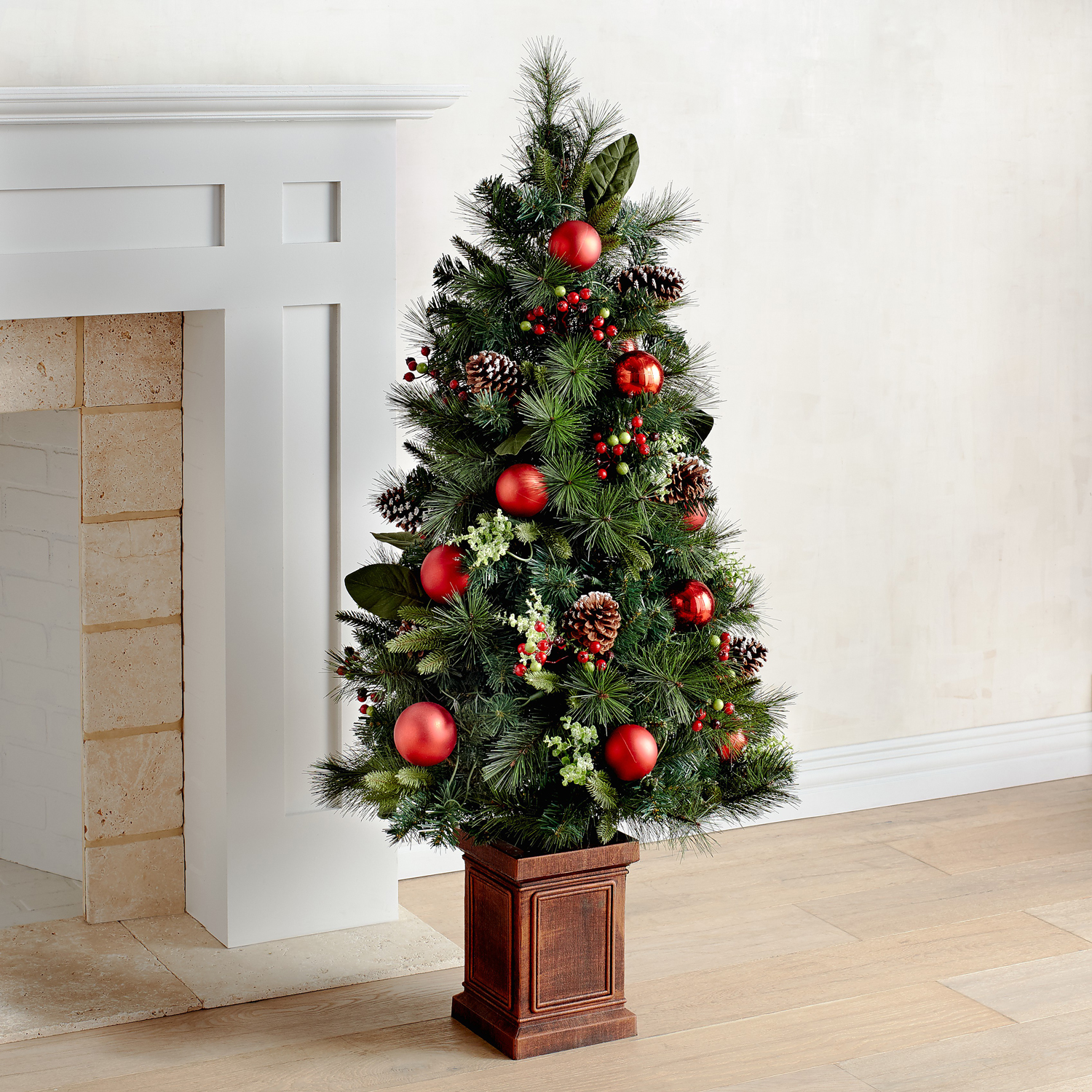 LED Pre-Lit Jolly Green Entryway Artificial Tree