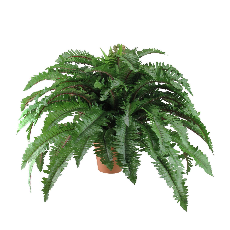 Lush Tropical Decorative Boston Fern Potted Artificial Plant
