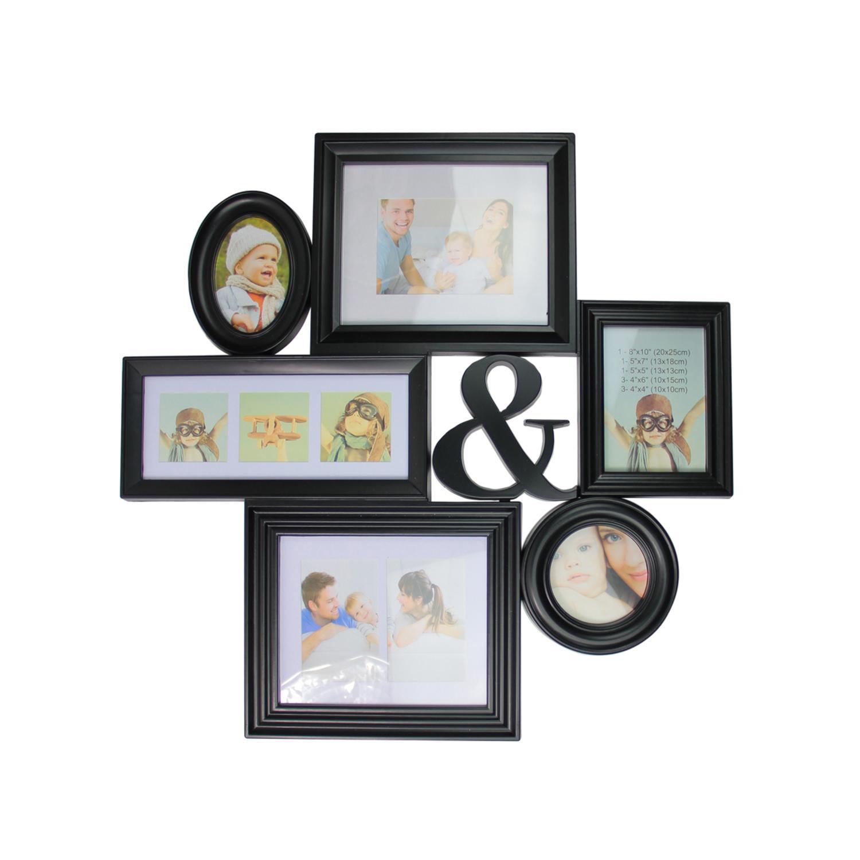 Black Multi-Sized Photo Collage Frame