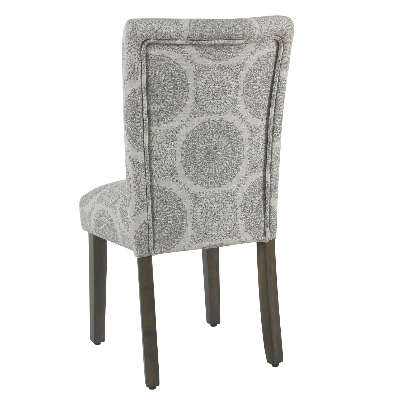 Ansen  Gray Medallion Dining Chair Set of 2