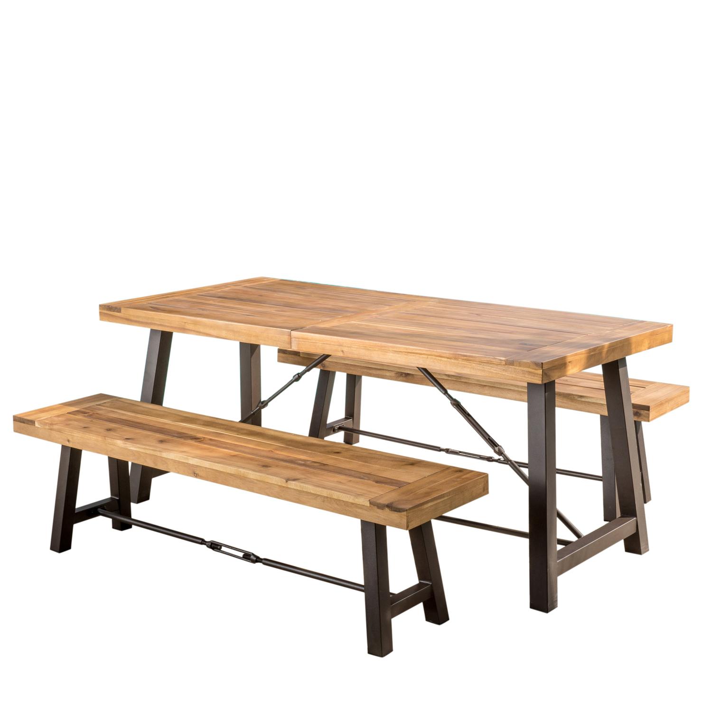 Westerfield Teak Finish Acacia Wood 3-Piece Picnic Table
