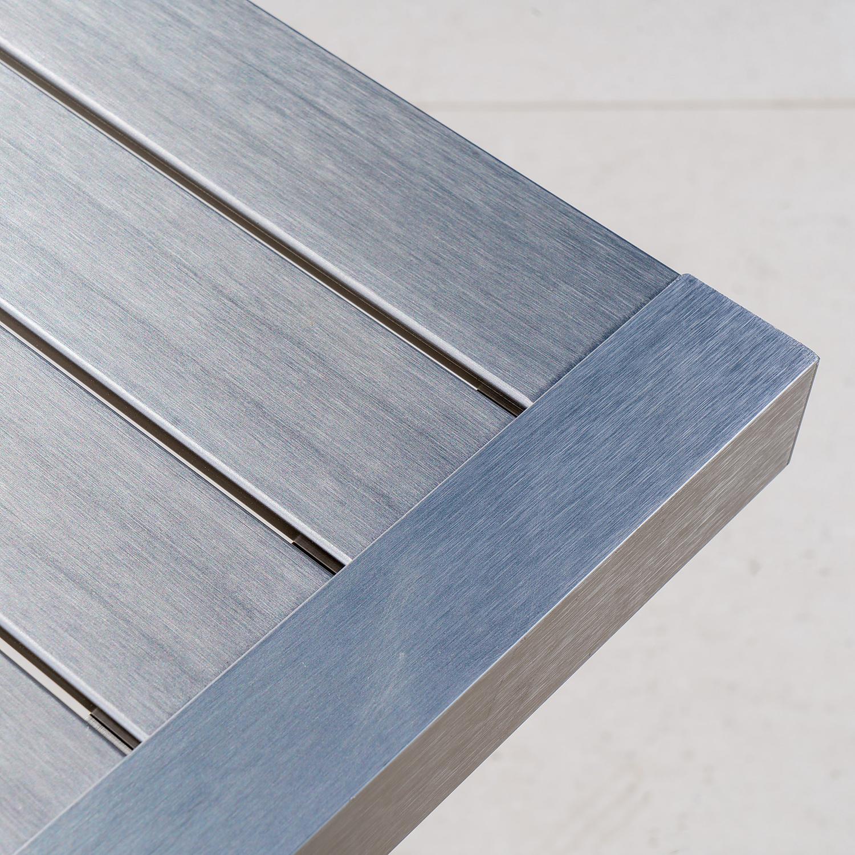 Keaton Gray Mesh Chaise Lounge & End Table 3-Piece Set