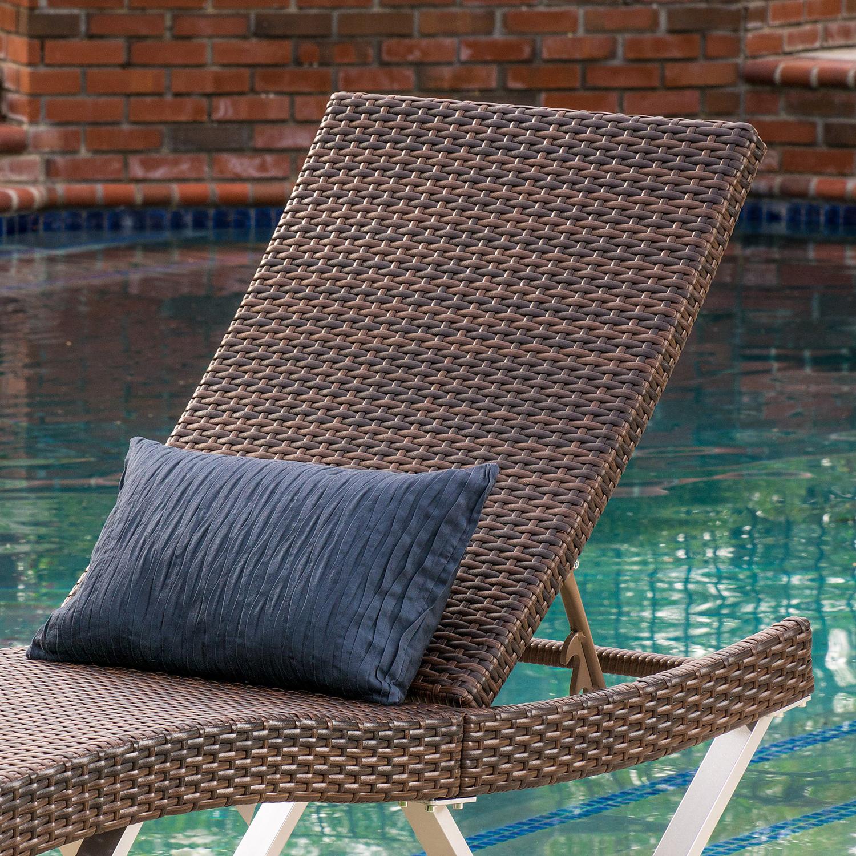 San Maritz Brown Chaise Lounge