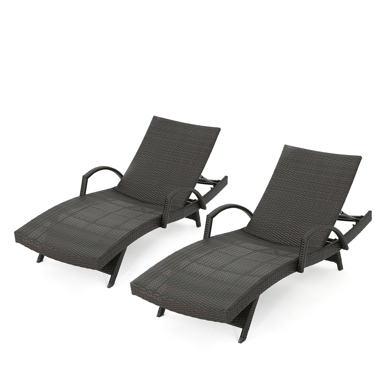 Carlsbad Wicker Chaise Lounge with Arms Set of 2
