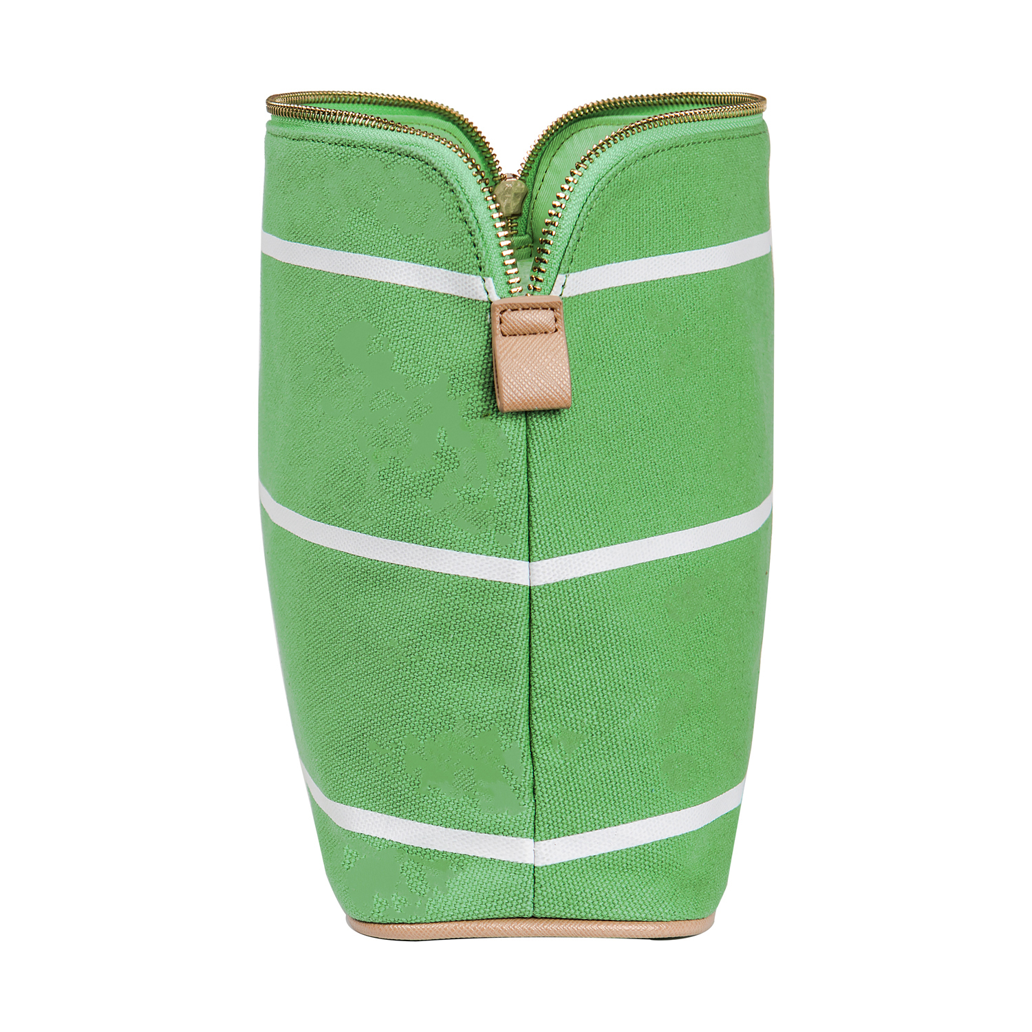 Cathy's Concepts Green Striped Cosmetic Bag