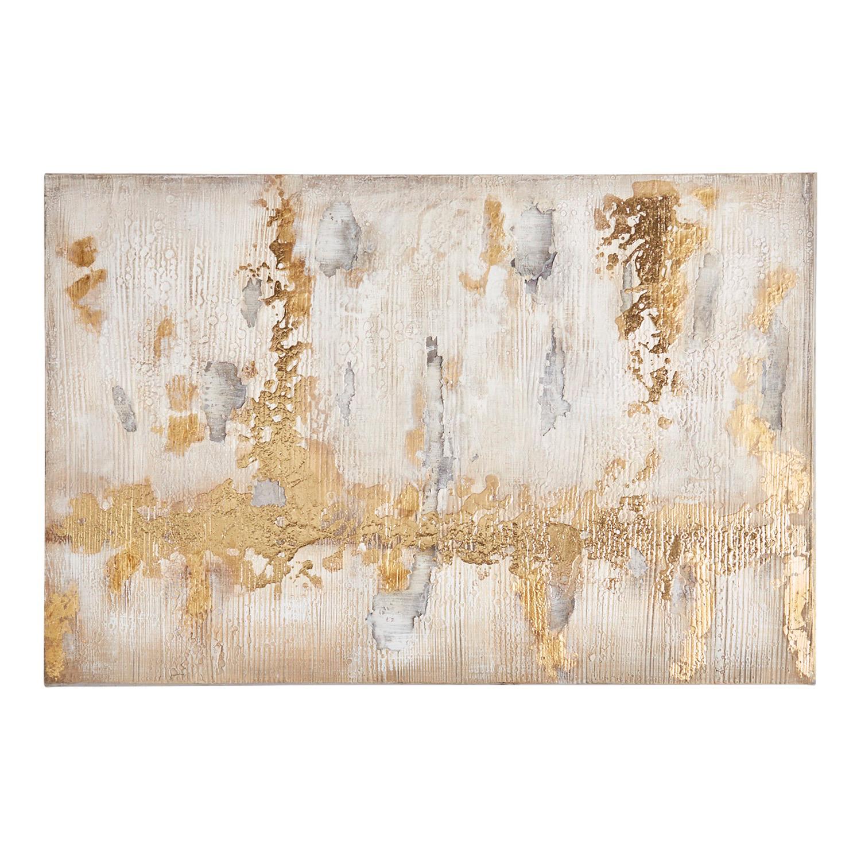 Golden Horizon Abstract Art