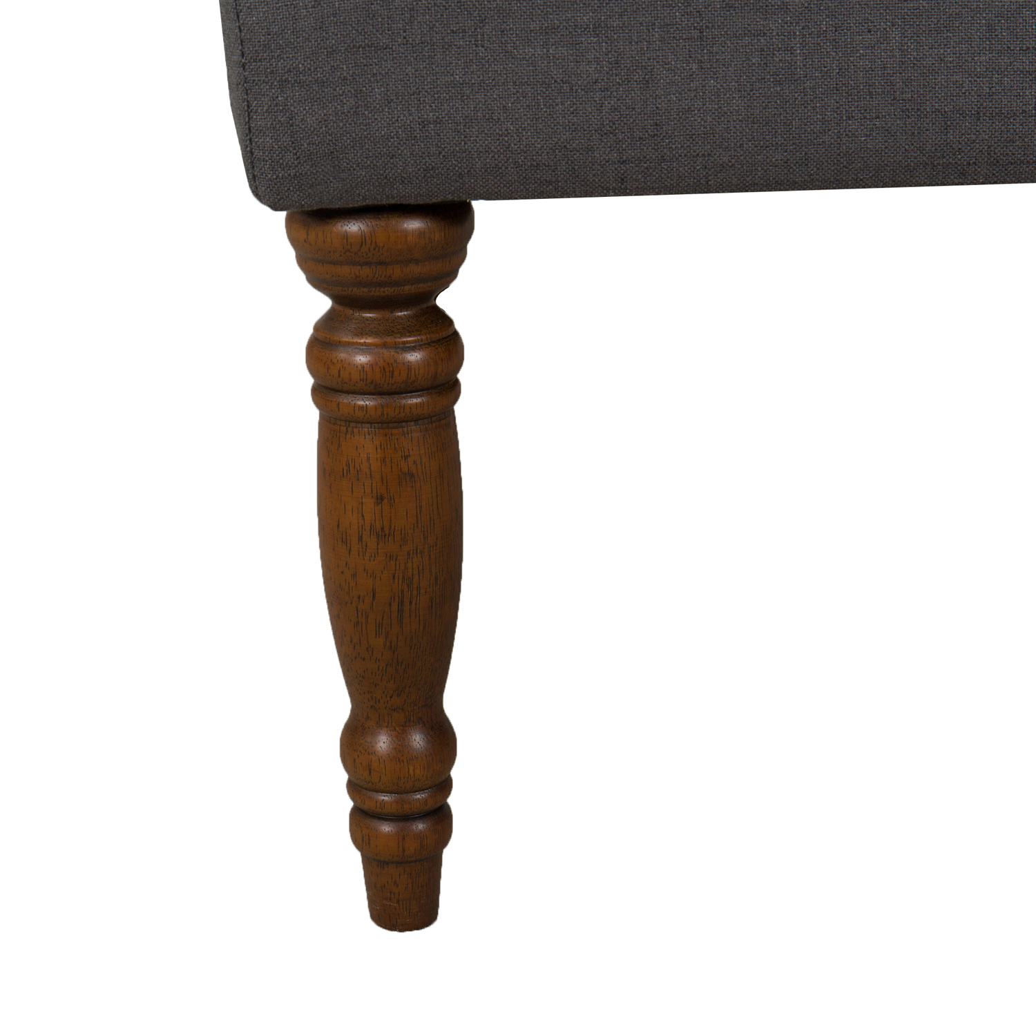 Layla Dark Charcoal Gray Tufted Bench