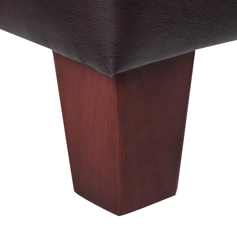 Brown Faux Leather Storage Ottoman