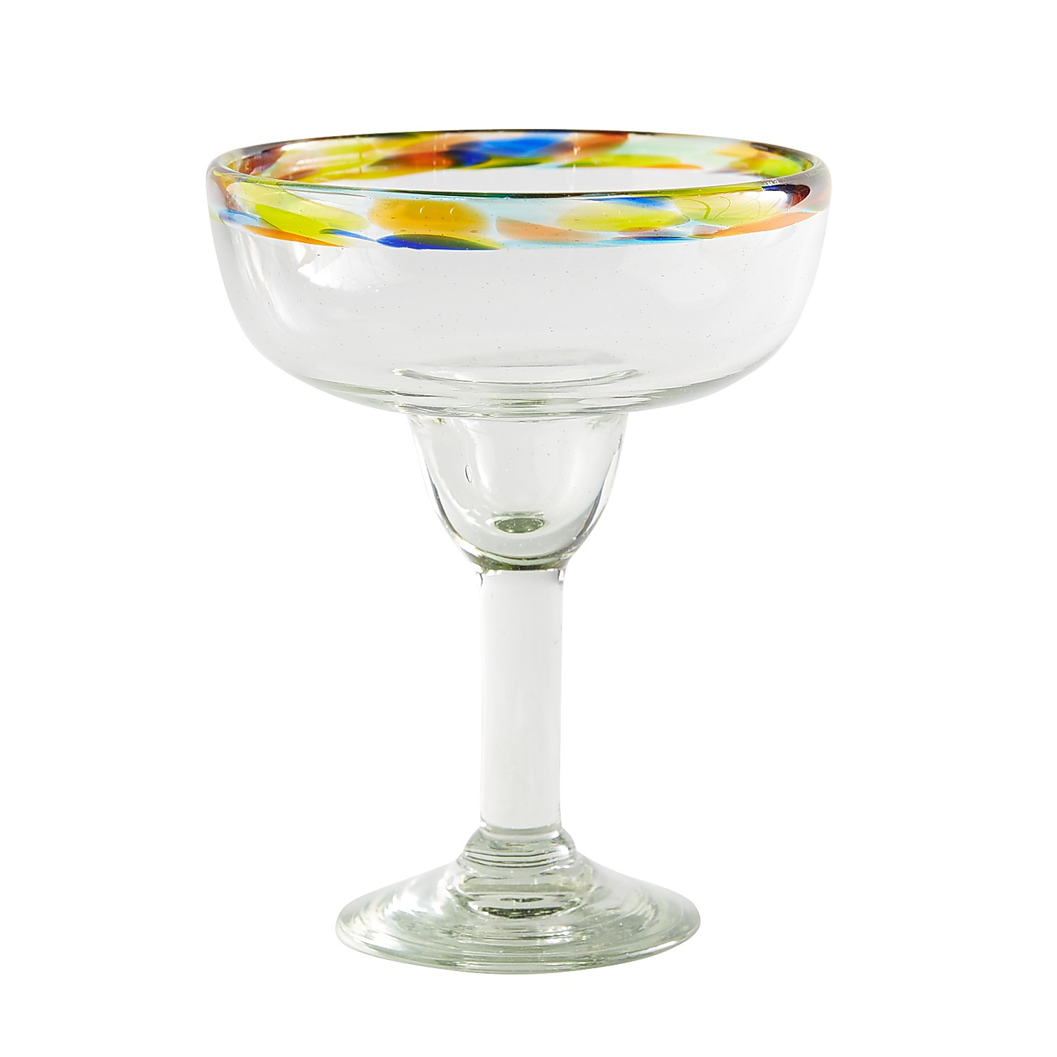 Confetti Rim Margarita Glass