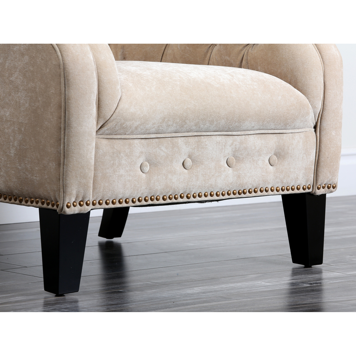 Mullins Upholstered Armchair with Nailhead Trim - Pier1 ...