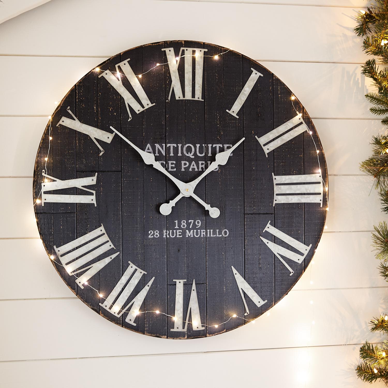 Wash Wall Clock