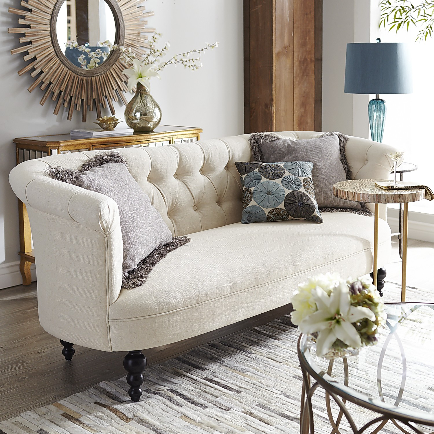 Ivory variation thumbnail of Colette Sofa