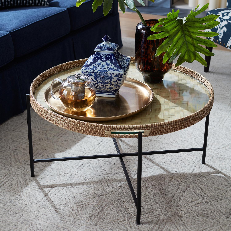 Larissa Natural & Black Tray Coffee Table - Pier1