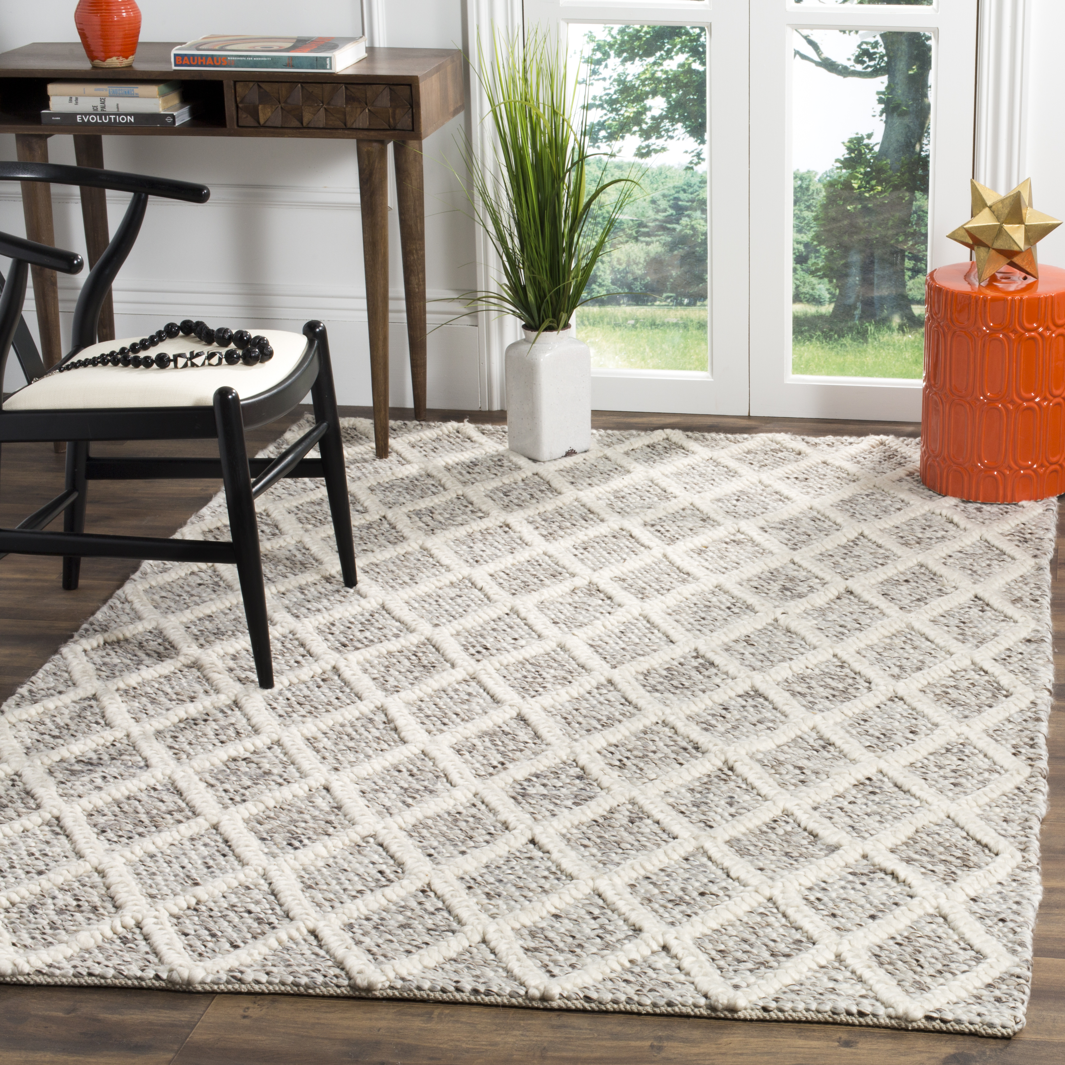 Chipley 711 6' X 6' Square Ivory Polyester Rug