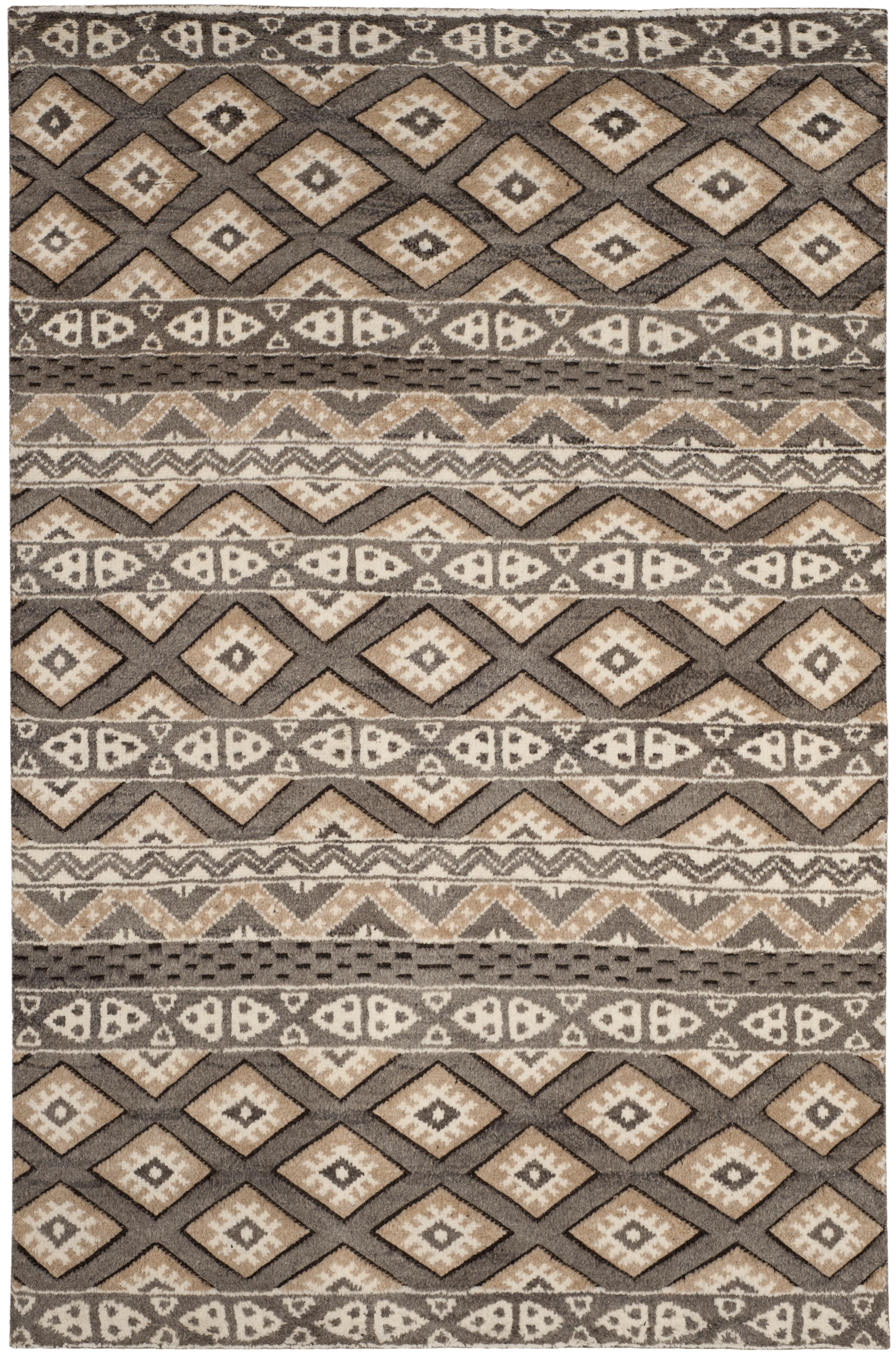 Cody 319 6' X 9' Brown Wool Rug