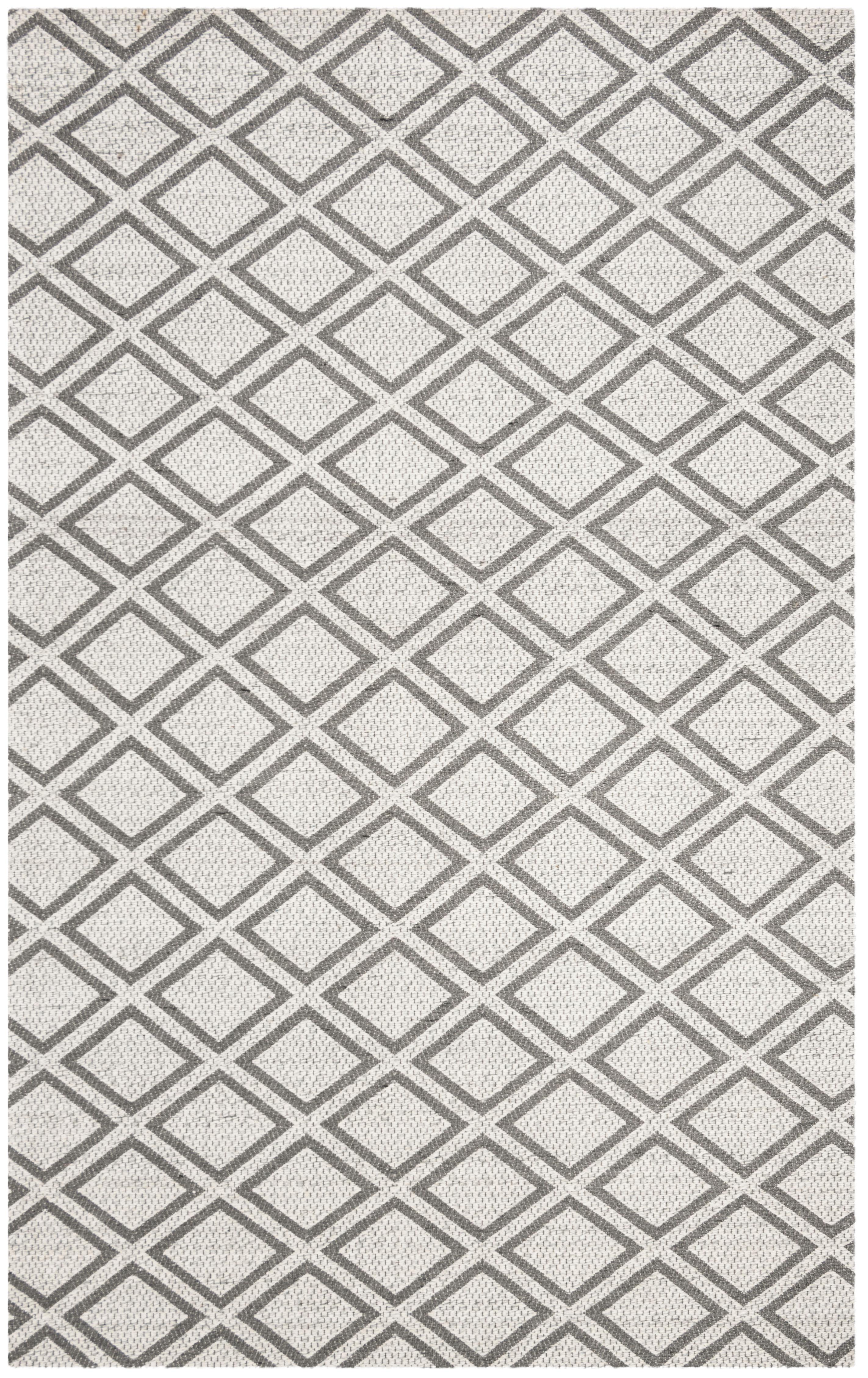 Essence 514 5' X 8' Silver Wool Rug