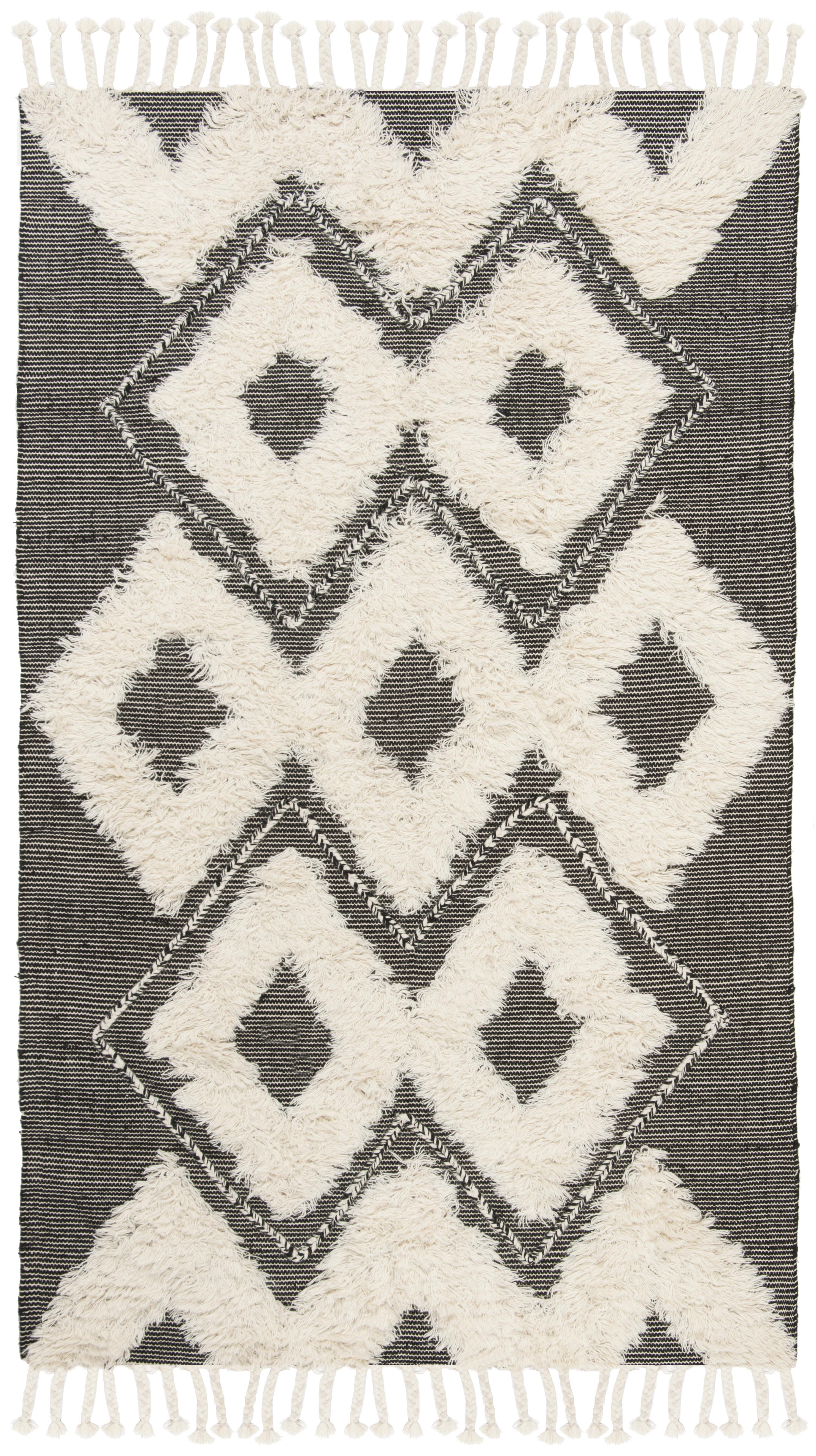 Gypsy 903 6' X 9' Black Wool Rug