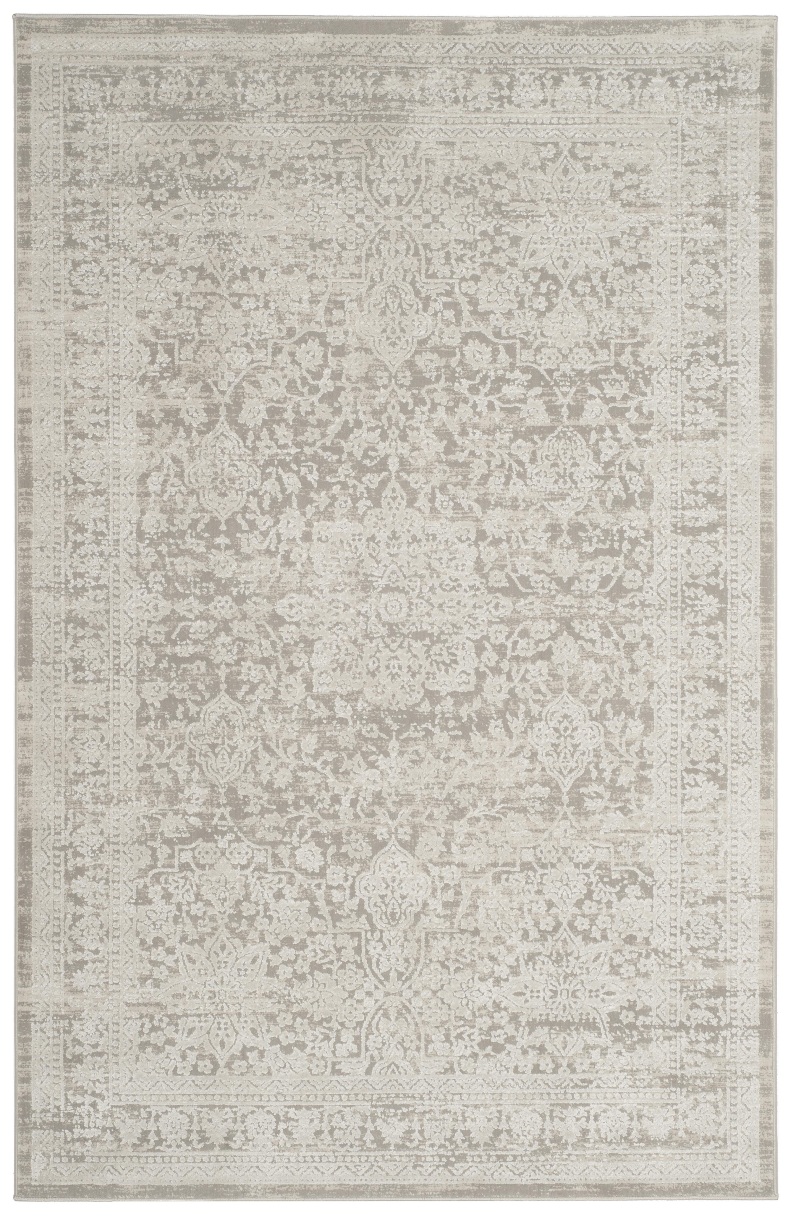 Haden 712 4' X 6' Gray Polyester Rug