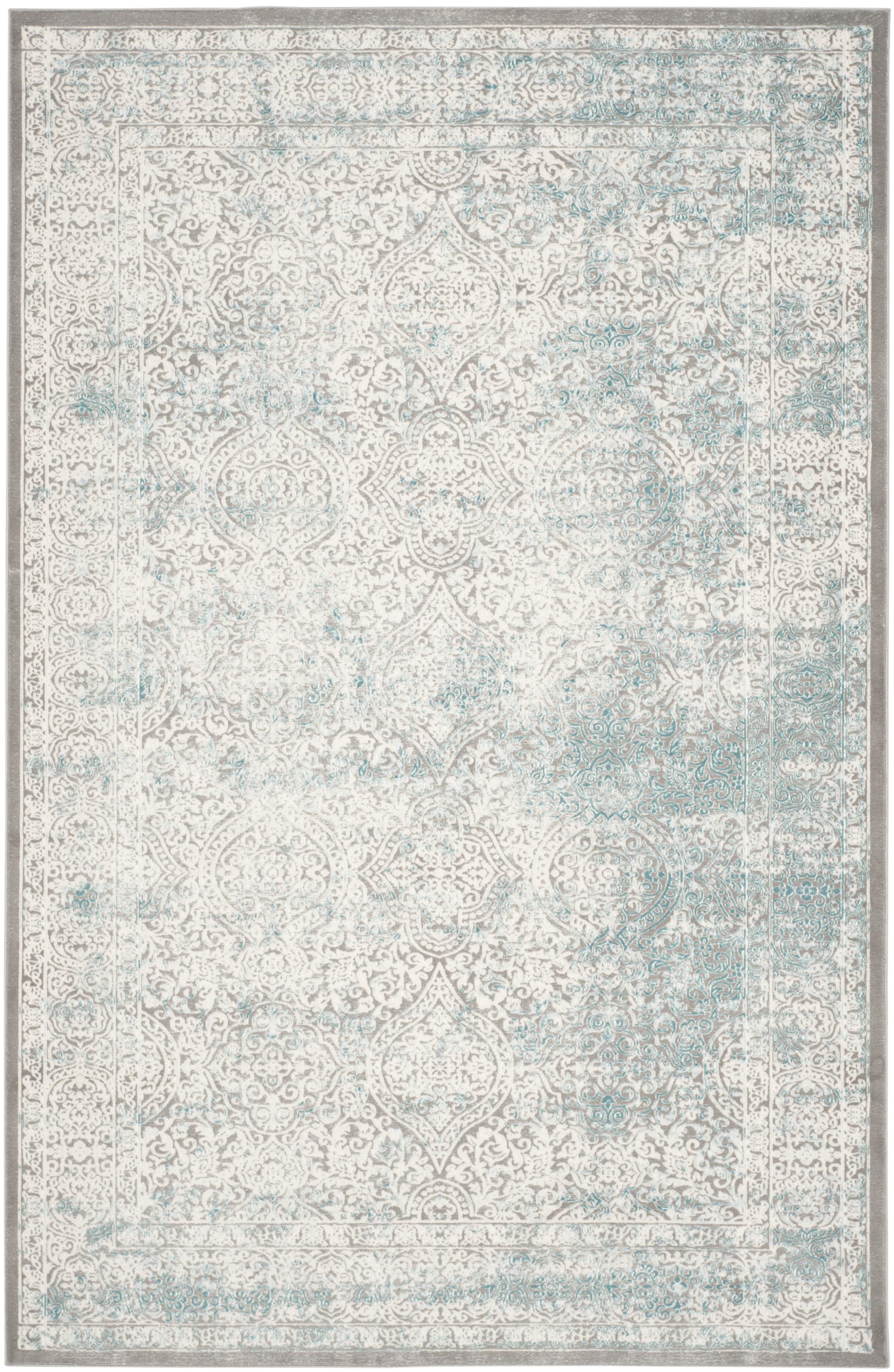 Jennifer 401 9' X 12' Turquoise Polypropylene Rug