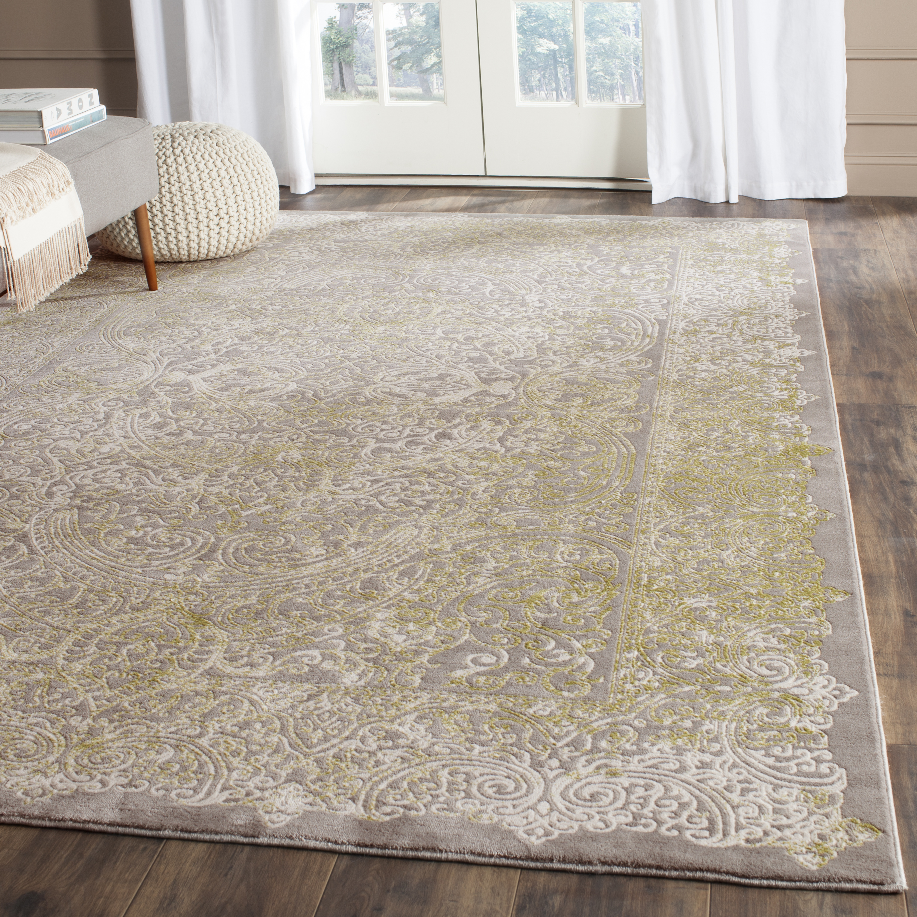 Jennifer 404 9' X 12' Gray Polypropylene Rug